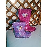 VIOLETTA GALOSCE Stivali per la Pioggia bambina 36-38 scarpe Antipioggia Disney