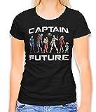 shirtminister Captain Future Damen T-Shirt Schwarz M