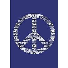 Rayher 4503300 - Plantilla de estarcido (lámina DIN A4, incluye raspador), diseño de símbolo de paz