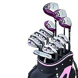 Ljleey-SP Mazze da Golf 13 PCS Set da Golf Leggero Set da Golf da Donna Club Completo Golf da Golf da Donna Golf Practice Club Set di Principianti Bar per Esercizi