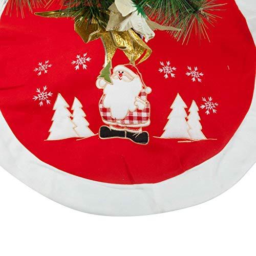 QILICZ Weihnachtsbaum Rock, Dick Weihnachtsbaumdecke Weihnachtsmann Baum Rock Christbaumständer Geschenkdecke Dekoration Weinachten Tannenbaum Dekorationen Baumdecke Ø 90cm