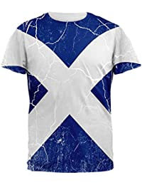 Old Glory Scottish Flag Distressed Grunge Scotland All Over Mens T Shirt