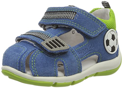 Superfit Jungen Freddy Sandalen, Blau (Denim Multi), 24 EU