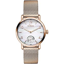 s.Oliver Damen-Armbanduhr Analog Quarz Edelstahl SO-3077-MQ
