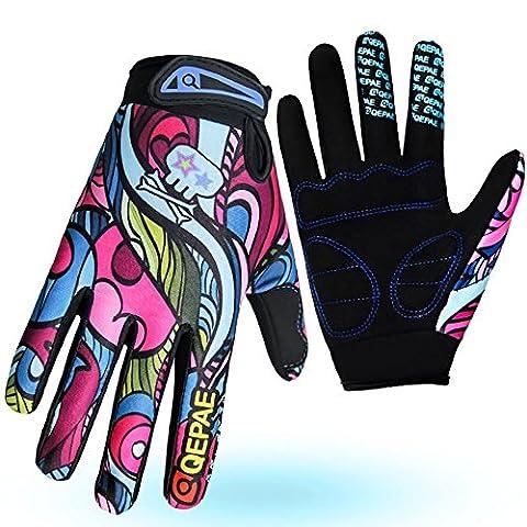 GYUSHU Cycling Gloves Mountain Bike Road Racing Light Silicone Gel Pad Full Finger Riding Anti-slip Men Women Gym Sports , as figure ,