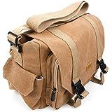 Transporttasche / Kameratasche für Nikon D3200 und D5300 SLR-Digitalkameras und Zubehör - beige-braun - von DuraGadget