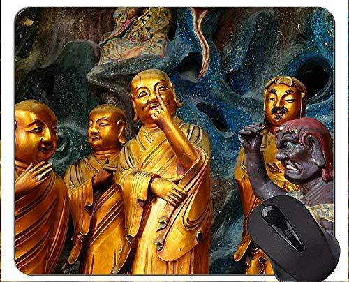 Mauspad Anti-Rutsch, China Buddha Statue Ästhetische Sinne Personalisierte Rechteck Gaming Mauspads (Kitty Hello Personalisierte Geschenke)
