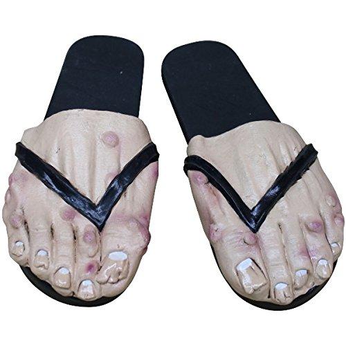 Ghoulish productions - Sandalias pies hombre con verrugas