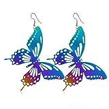 METTU Modische Colorful Hohl Anhänger Ohrringe Schmetterling Blätter Geometrische Ohrringe Fashion Trend Schmuck für Frauen