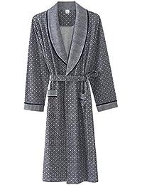 DAFREW Pijamas de algodón/Ropa de Dormir de los Hombres - Albornoz/Bata cómoda