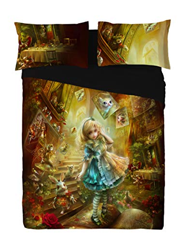 Wild Star ALICE IN WONDERLAND Duvet and Pillowcase Cover set (Double 200cm x 200cm) by Wild...