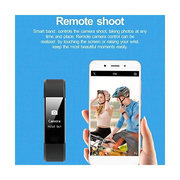 ID 115HR Plus Smart Wristband Sports Heart Rate Smart Band Fitness Tracker (Negro) 7