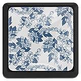 COOSUN - Tirador decorativo de cristal de jazmín con forma cuadrada para armario, cajón, pomos de armario con tornillos para el hogar, oficina, armario, 3 piezas