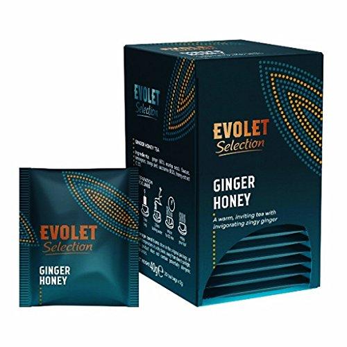 EVOLET Selection, Té de Jengibre y Miel (Ginger & Honey Tea) | Aromático, Delicioso, Energizante, Altos Antioxidantes, Fortalece el Cuerpo | (Paquete de 2, Total 40 Bolsitas de Té)