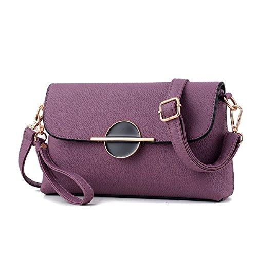 Damen Mini Messenger Tasche Umhängetasche Purple