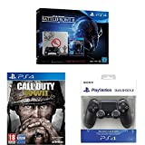 PlayStation 4 (PS4) - Consola 1 TB + Star Wars Battlefront - Edición Especial + COD WWII + Dualshock 4 Mando Inalámbrico, Color Negro V2