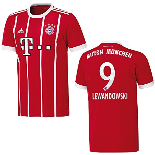 Adidas Bayern Camiseta Home Hombre 2018–Lewandowski 9, 3XL