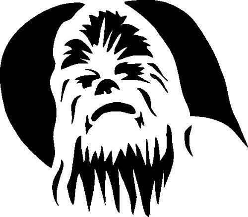 Preisvergleich Produktbild 1 x 2 Plott Aufkleber Chewbacca Star Wars Han Solo Trooper Darth Vader Skywalker