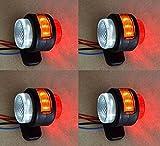 4x Seite Outline Marker Lights Lampen 12V Trailer Van Truck Caravan Chassis Wohnmobil orange weiß rot