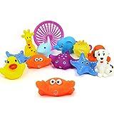 Zauber Juguete Baño Bebe Squirts Juguetes Para el Baño Flottant Grinçant Animaux Jouets 10 Pack