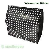 01170425SS-13 Fahrrad Gepäckträgertasche Seitentasche Tasche schwarz Punkte 13 mm