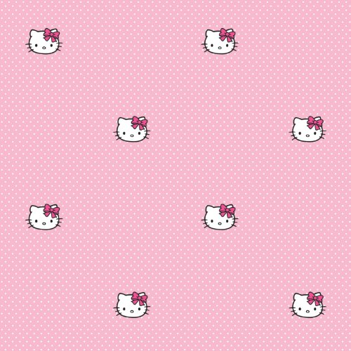 Graham & Brown Hello Kitty Pink Polka Dots - Papel pintado para habitación infantil (colección kids@homeIII), diseño de Hello Kitty con lunares