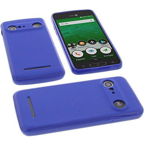 foto-kontor Funda para Doro 8035 Protectora de Goma TPU para móvil Azul