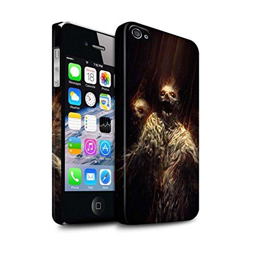 Offiziell Chris Cold Hülle / Matte Snap-On Case für Apple iPhone 4/4S / Gehörnter Dämon Muster / Dämonisches Tier Kollektion Ghouls der Furcht