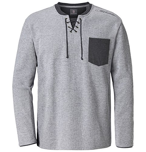 Jan Vanderstorm Herren langarm Sweatshirt Terracne Grau Melange 64/66 - 3XL