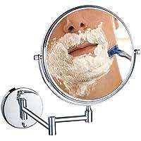 Uniquebella Schminkspiegel, 10x Lupe Wandhalterung Spiegel 8 Zoll zweiseitig Vanity Kosmetikspiegel (10X Vergrößerung)