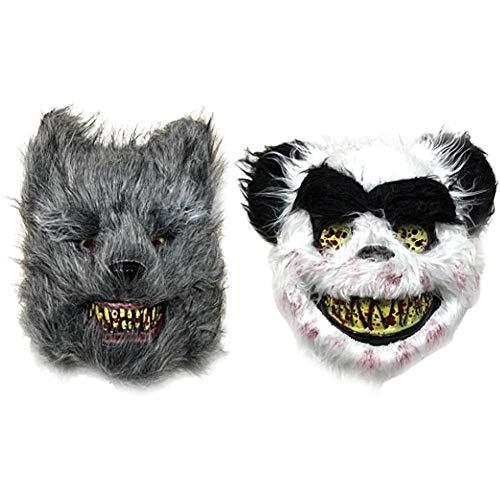 Kostüm Teen Werwolf - Halloween Blutig Panda Werwolf Maske Schrecklich Realistische Kunstpelz Gesichtsmaske Maske Lauernder Für Halloween, Maskeraden, Partys, Cosplay-Wolf-Panda