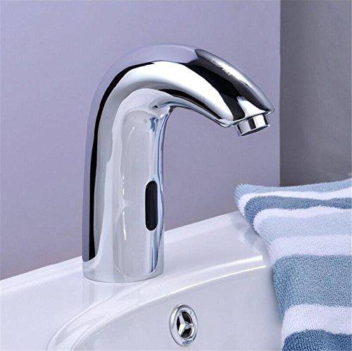 homjo Design Hot und Cold Automatische Hände frei Touch Sensor Wasserhahn Waschbecken Wasserhahn Badezimmer Wasserhahn Messing Material (Wasserhahn Motion Waschbecken)