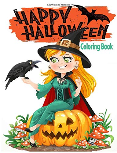 Happy Halloween Coloring Book: Halloween Coloring Book for Stress Relieve and Relaxation,Halloween Fantasy Art with Hocus Pocus Witches (Color for all ages) (Halloween Pocus Happy Hocus)