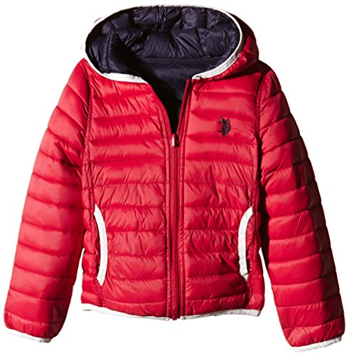 U.S.POLO ASSN. - FRANK PADDED JACKET, Giubbotto Double infantile, double red/navy, 3