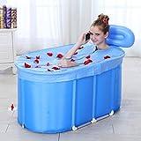 Aufblasbare Badewanne Baumwollisolierung Badewanne für Erwachsene Hausbad Klappbar umweltfreundliches wasserdichtes Material kein Geruch blaues Bad Kinderbad ( Edition : B , Size : XL )