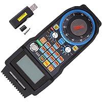 MagiDeal 1x Volante Electrónico USB 6 Axis MACH3 MPG Control Remoto CNC Electrónico LCD Pantalla +