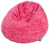 Magma-Heimtex 2826052 Sitzsack L Fluffy, 70x90cm, 120Liter, Polystyrolfllung, Original Knauf, Farbe pink