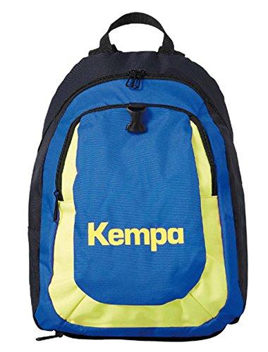 Kempa zaino con palla rete per bambini Marine/Blu/Giallo Fluorescente 40x 35x 20cm, 20l