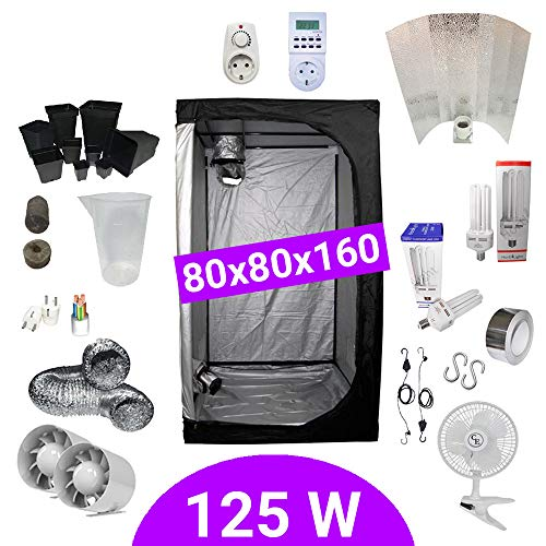 Kit Coltivazione Indoor 125W CFL Crescita e Fioritura - Grow Box...