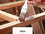 20L Holzlack seidenmatt für Parkett, Holzdielen, Holzfussboden, Gartenmöbel | BEKATEQ Holzschutzfarbe Farbe Holzfarben Holzversiegelung auf Wasserbasis für innen und außen hohe Deckkraft, keine Geruchsbelästigung - MADE IN GERMANY Farbe in WEISS