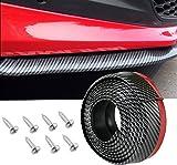 Gogolo DIY auto tronco 2,5m in fibra di carbonio Line spoiler anteriore labbro Protector gonna, 100% gomma impermeabile universale per labbro laterale e posteriore labbro spoiler