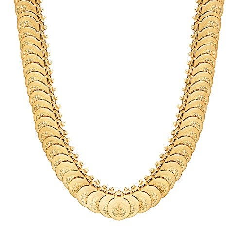 Shining Jewel 24K Gold Plated Temple Long Coin Necklace (SJ_2160)  available at amazon for Rs.378