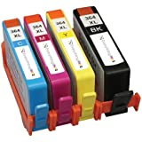 Generic Compatible Ink Cartridge Replacement for HP 364XL (Black, Cyan Magenta, Yellow, 4-Pack)