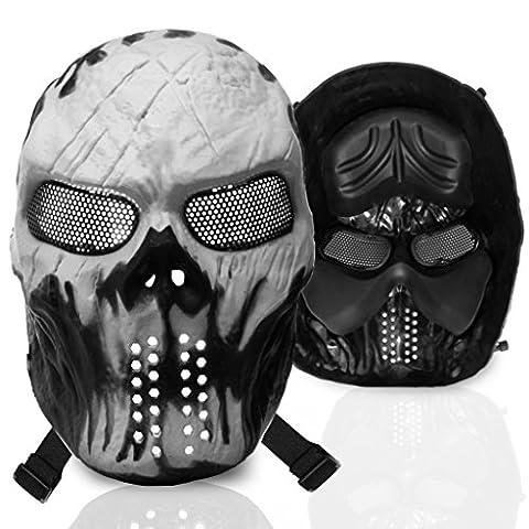 stargoods Squelette Masque Airsoft–Paintball en maille en métal, pistolet BB, & CS Jeux, Ghost Skull