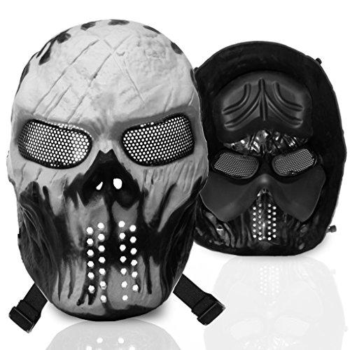 stargoods Skelett Softair Maske–Metall Mesh Paintball, Bb Gun, & CS Spiele, Ghost (Army Two Kostüm Of)