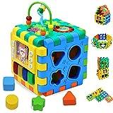 INvench Cube d'Activités Ludiques Jouet Educatif - 6 dans 1 Centre D'activités...