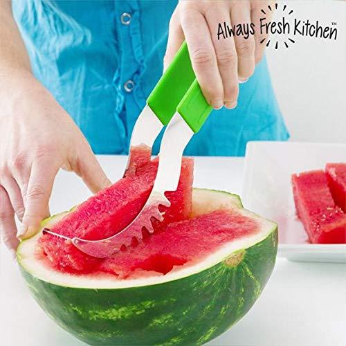 Always fresh kitchen slice & serve affetta anguria, acciaio inox, verde, 3x 7x 21cm