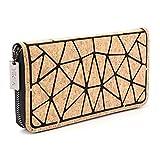 Tikea Geldbörse von Kork Geometrische Clutch Wallet Umweltfreundlich Handytasche Portable Handtasche für Frauen Kork