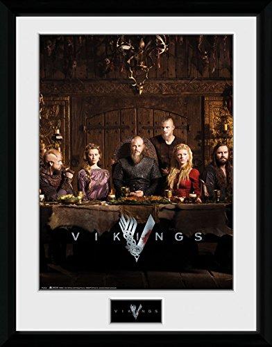 1art1® Vikingos - Table Póster De Colección Enmarcado (40 x 30cm)