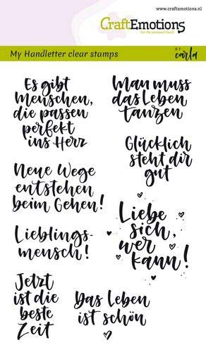 CraftEmotions Clearstempel Set A6 Carla 130501/1866, My Handletter Clear Stamps Handletter - Quotes (Zitate)